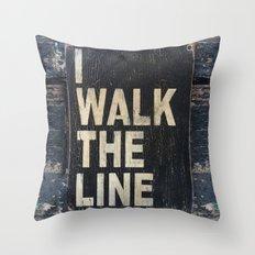 I Walk The Line Throw Pillow