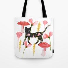 Chat & Champignons Tote Bag