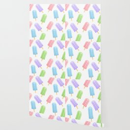 Popsicle Pattern Wallpaper