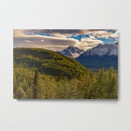 Termination Dust - Glenn Highway, Alaska Metal Print