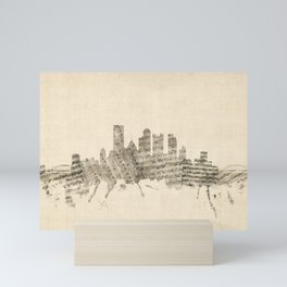 Pittsburgh Pennsylvania Skyline Sheet Music Cityscape Mini Art Print