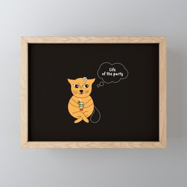 Beatrice. The cat that thinks... Party Framed Mini Art Print