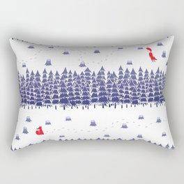 Winter foxes Rectangular Pillow