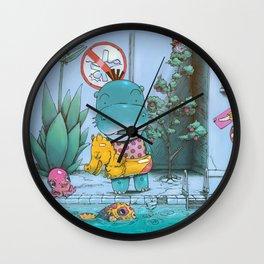 At The Pool Wall Clock