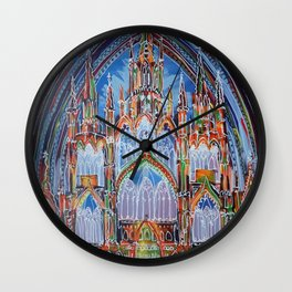 Gothic Lights Wall Clock