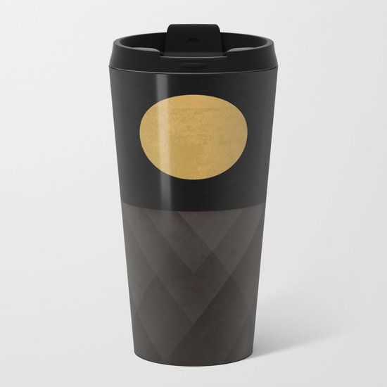 Moon Reflection on Quiet Ocean Metal Travel Mug