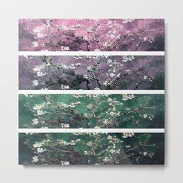 Vincent Van Gogh Almond Blossoms Teal Green Purple Metal Print