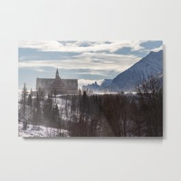 On Top of the Mountain Metal Print