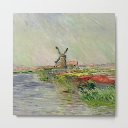 "Claude Monet ""Tulip field in Holland (Champ de tulipes en Hollande)"" Metal Print"