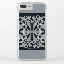 Support Love Mandala x 2 - Neutral/Black Clear iPhone Case