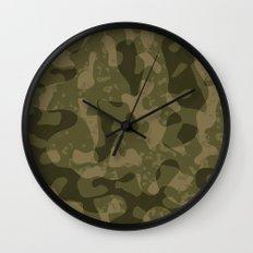 Camouflage Melt Wall Clock