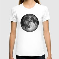 the moon T-shirts featuring moon by Tudor