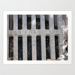 San Francisco Sewer Grate Art Print