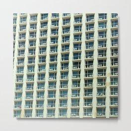 Tel Aviv - Crown plaza hotel Pattern Metal Print