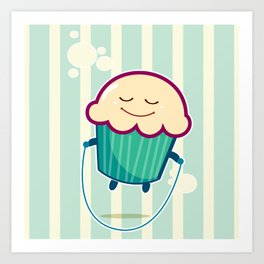 Baby Cupcake - Skipping Art Print