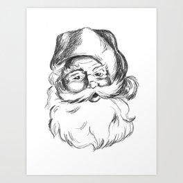 Jolly St. Nick Art Print