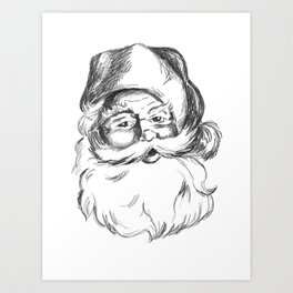 Jolly St. Nick Art Print