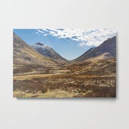 Glencoe Valley Metal Print