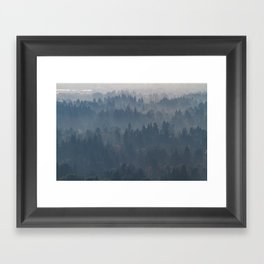Hazy Layers Framed Art Print