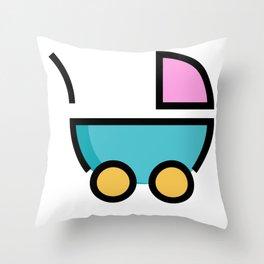 Baby Stroller Cute Gift Idea Throw Pillow