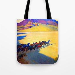 Maynard Dixon Wild Horses Tote Bag