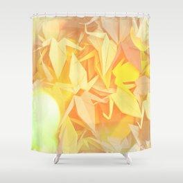 Senbazuru | shades of yellow Shower Curtain