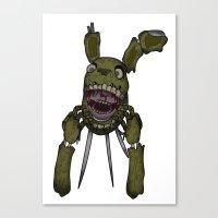 fnaf Canvas Prints featuring Spring Trap FNaF - Print by insomniac zach