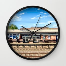 Miniature People at the Station Wall Clock