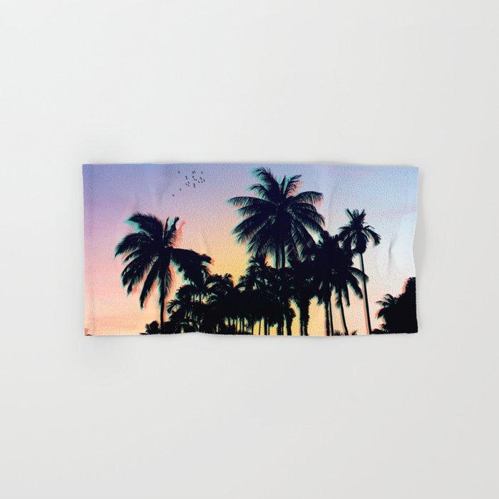 Palm Tree Summer Hand Bath Towel