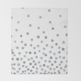 STARS SILVER Throw Blanket