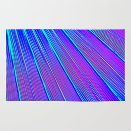 Blue Pink Stripes Rug