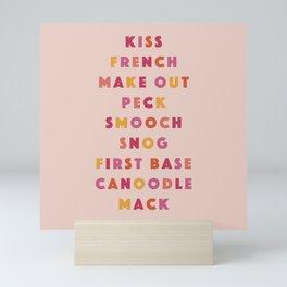 Kiss List Mini Art Print
