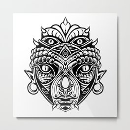 COPPER HEAD Metal Print