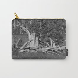 road trip, wood pile, snag by the lake Carry-All Pouch