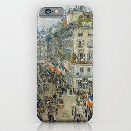 Childe Hassam - July Fourteenth, Rue Daunou, 1910 iPhone Case