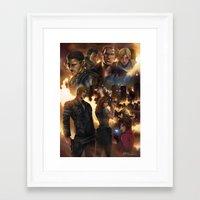 resident evil Framed Art Prints featuring Resident Evil 6 by Dr-Salvador