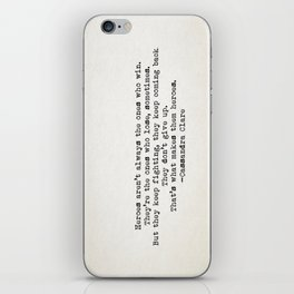 """""""...That's what makes them heroes"""" - Cassandra Clare iPhone Skin"""