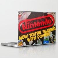 nintendo Laptop & iPad Skins featuring Nintendo Power by haohunter