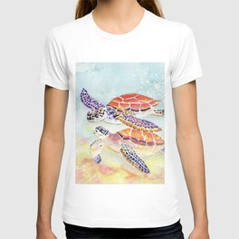 Swimming Together - Sea Turtle T-shirt