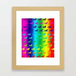 Psychedelic Unicorn Pattern Framed Art Print