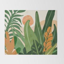 Desert Garden Sunset Throw Blanket