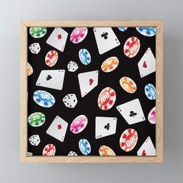 #casino #games #accessories #pattern 2 Framed Mini Art Print
