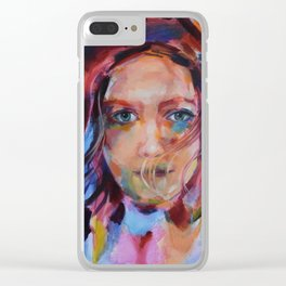 Windy Determination Clear iPhone Case