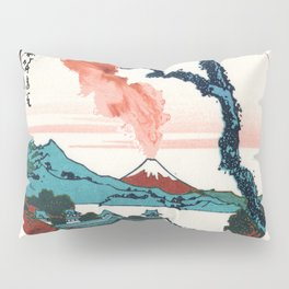 Hokusai View Of Mount Fuji With Eruption Minimalist Pillow Sham