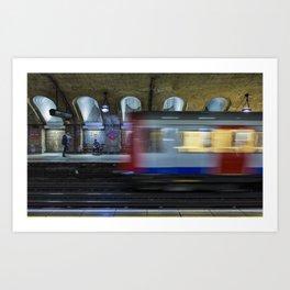 All Go At The London Underground Art Print