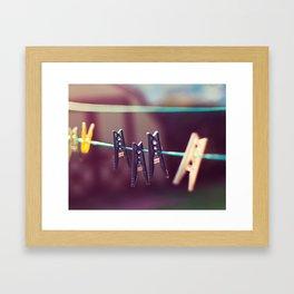 Pegs Framed Art Print