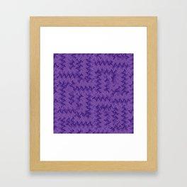 Color Purple Framed Art Print