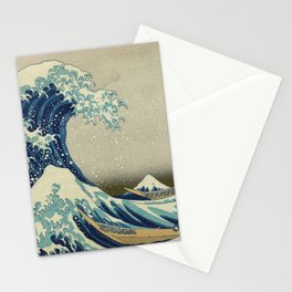 The Classic Japanese Great Wave off Kanagawa Print by Hokusai Stationery Cards