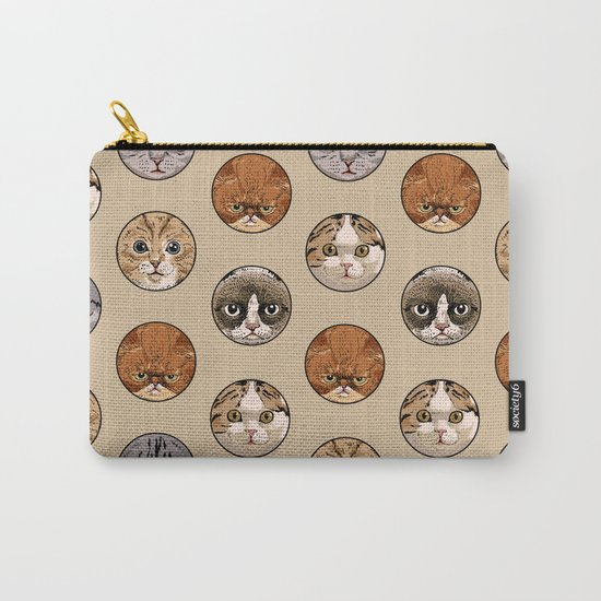 Polka Meaw Carry-All Pouch