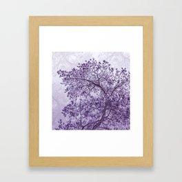 Beautiful Pine Tree Silhouette Purple Color #decor #society6 #buyart Framed Art Print
